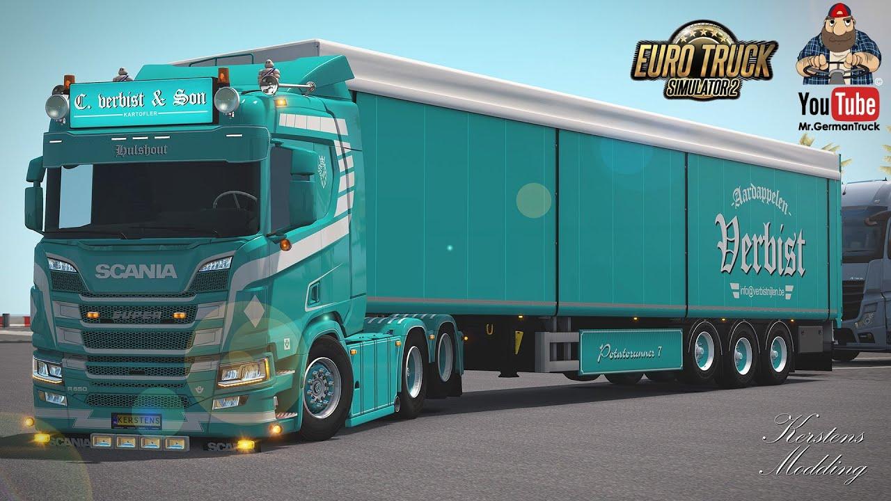 [ETS2 v1.36] Scania Next Gen C. Verbist & Son R650 + ALL Parts *SkinWork*
