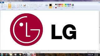 [Requested Video]How to Draw LG Logo in MS Paint from Scratch!
