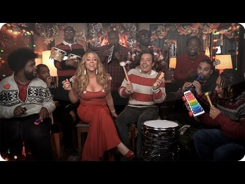 """Jimmy Fallon, Mariah Carey & The Roots: """"All I Want For Christmas Is You"""" (w/ Classroom Instruments)"""
