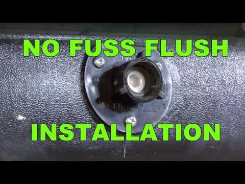 RV Holding Tank Flush Installation