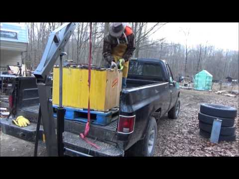 Removing Forklift Battery Cells For Solar Power Part II