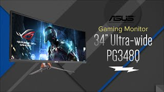 asus 34 led ultra wide curved qhd rog swift gaming computer monitor pg348q overview