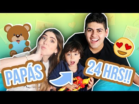 24 HOURS BEING DADS (GOES TO THE BATHROOM F) Ft. Alejo Suarez! || Bianki Place ♡
