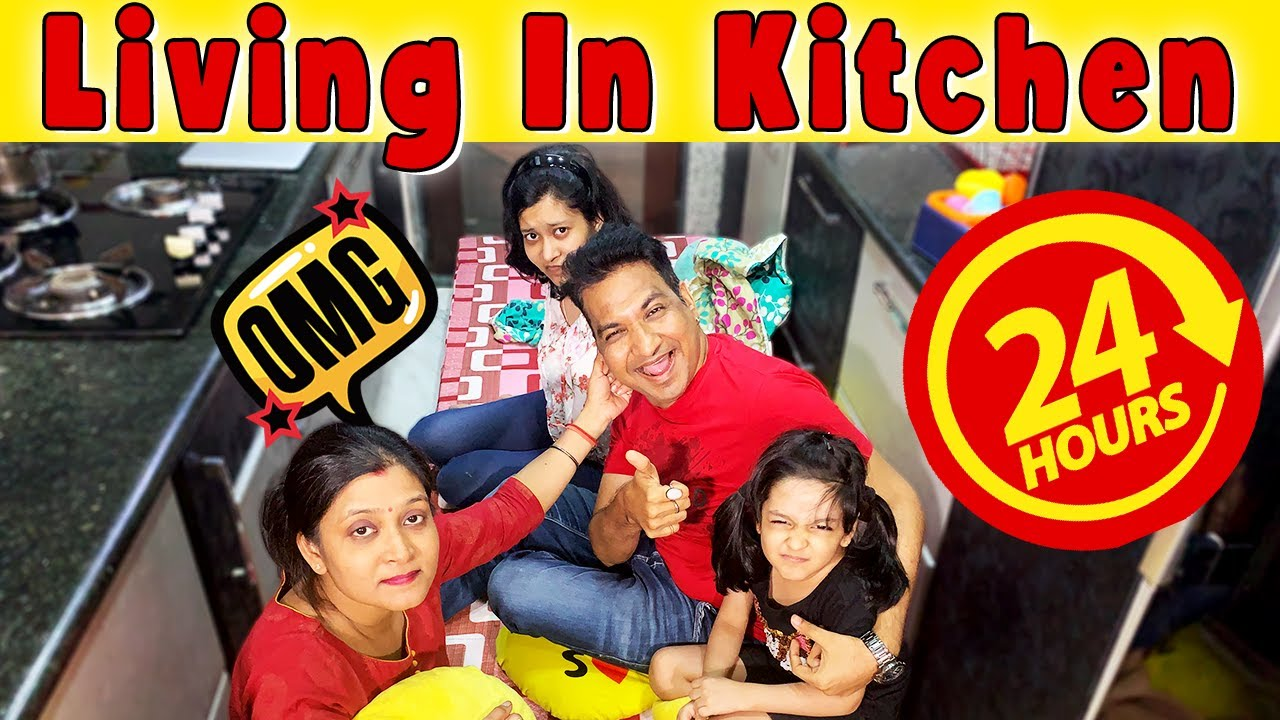 Download Living in Kitchen (Rasoda) for 24 HOURS!! *and this happened at end* 🤯