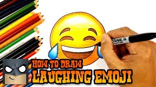 How to Draw and Color | Laughing Emoji