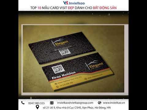 Top 10 Mẫu Card Visit  Bất Động Sản Đẹp KHÔNG THỂ BỎ QUA