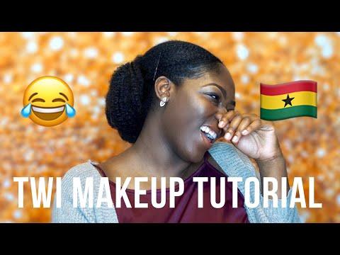TWI MAKEUP TUTORIAL CHALLENGE! Ghana Girl I Tried Paa 🙆🏾😂 | AFIA BELLE