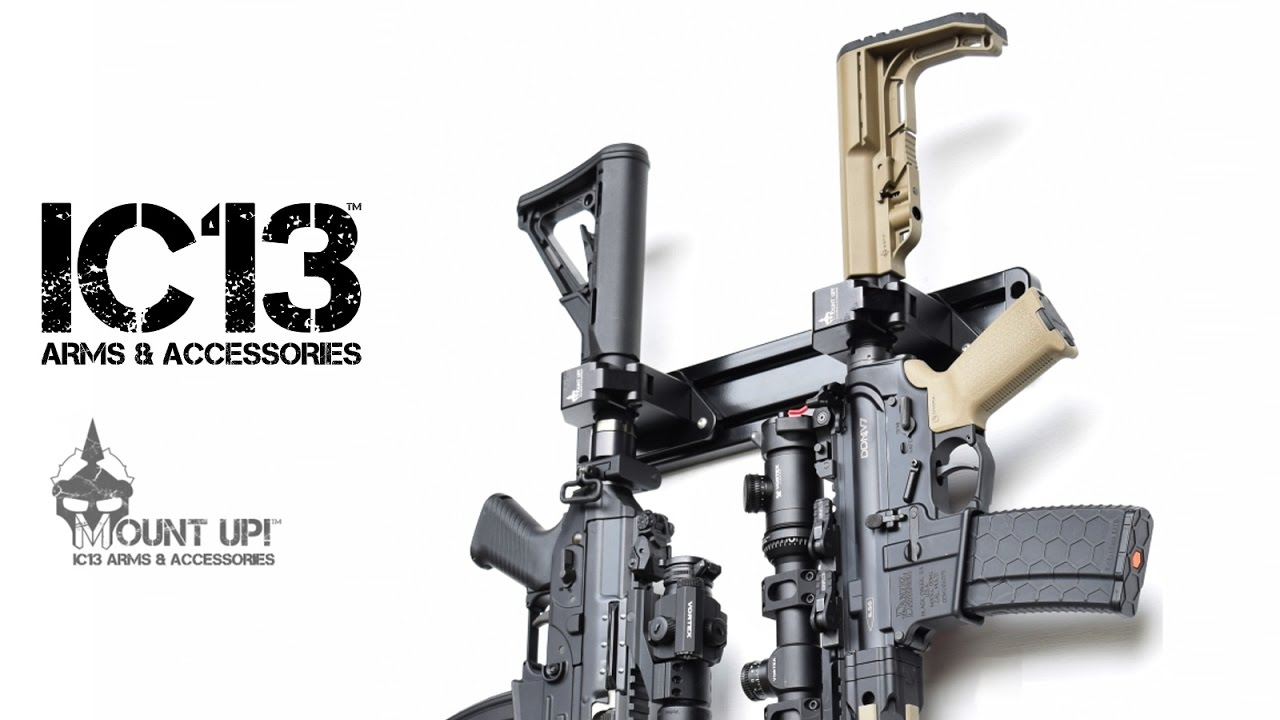 AR15 Wall Mount - IC13 Arms Mount Up - YouTube