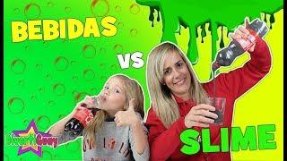 BEBIDAS VS SLIME Challenge | Reto de Refrescos de Slime | DivertiGuay