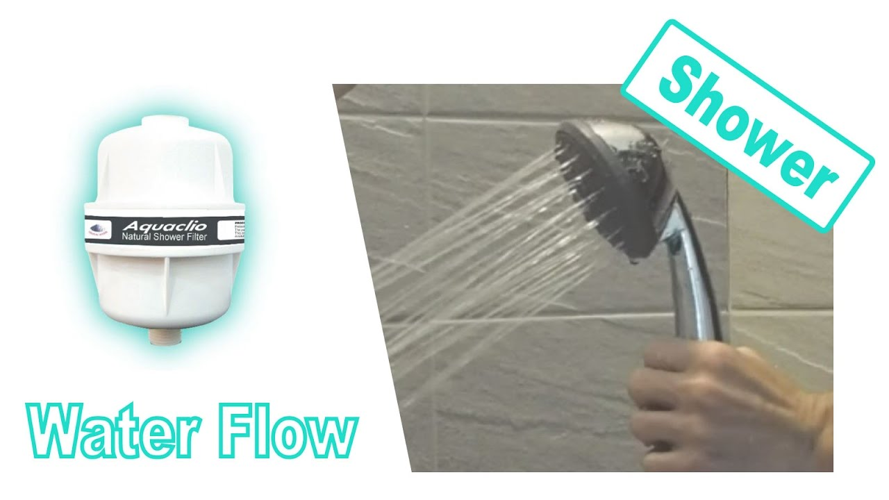 water flow test for tb 09 shower filter low water pressure loss youtube. Black Bedroom Furniture Sets. Home Design Ideas
