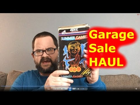 Garage Sale Haul Video + I meet Swamp Picker in an attic?