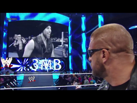 Thumbnail: The Shield and 3MB barge in on Triple H's return to SmackDown: SmackDown, April 12, 2013