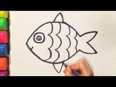 Как нарисовать рыбу поэтапно