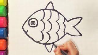 как сделать рисунок рыбки