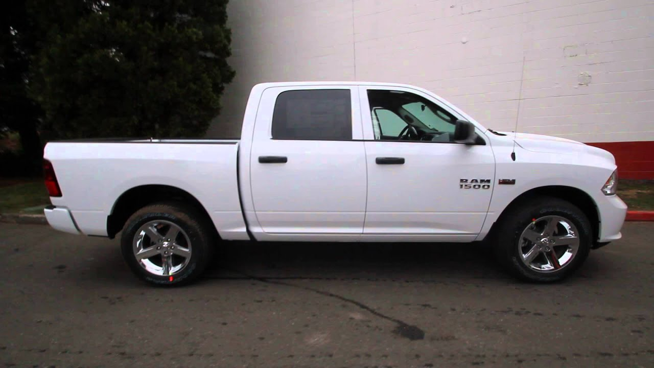 2014 dodge ram 1500 crew cab white es208927 seattle bellevue youtube. Black Bedroom Furniture Sets. Home Design Ideas