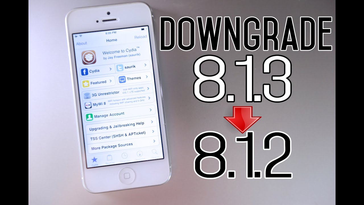 How To Downgrade iOS 8.1.3 to iOS 8.1.2 \u0026 Jailbreak Untethered - YouTube