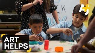 Syrian Refugees Learn English Through Art
