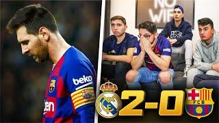 Real Madrid 2-0 FC Barcelona REACCIONES DE HINCHAS DEL BARÇA...