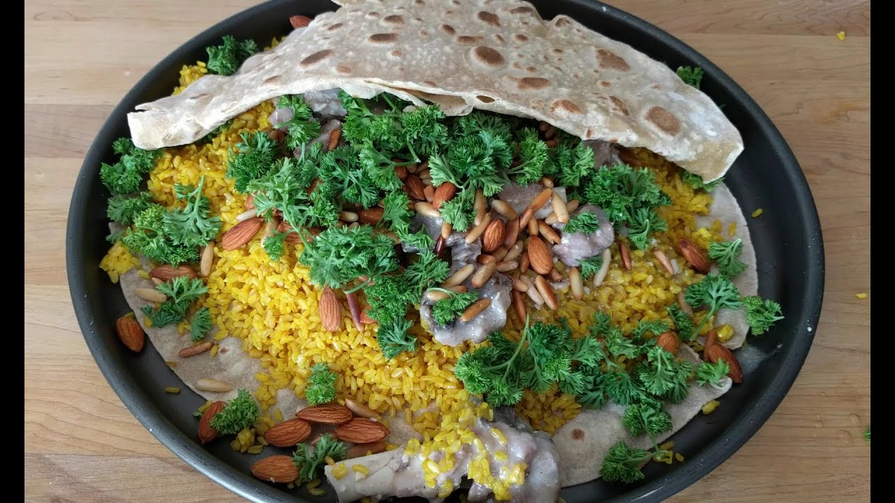 Pilar Deliberar encima  Mansaf - منسف‎ - Jordanian Mansaf Recipe - Lamb Recipe - National Dish -  Mansaf Recipe - YouTube