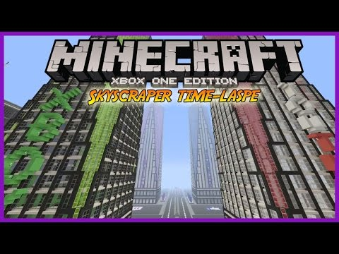 MINECRAFT | SOCIAL MEDIA BUILDINGS | SKYSCRAPER TIME-LASPE