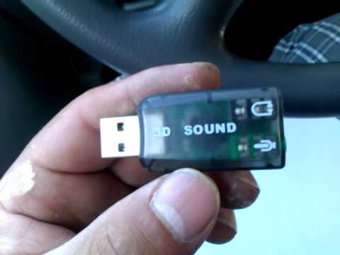 Usb to 3.5 audio connector/jack