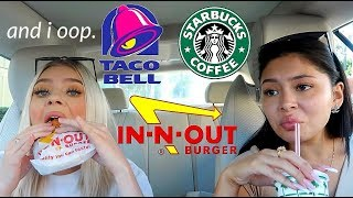 LETTING THE PERSON IN FRONT OF US DECIDE WHAT WE EAT FOR 24 HRS ft. Daisy Marquez