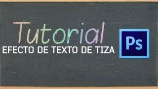 Efecto de texto de Tiza en Adobe Photoshop CS6 / CC