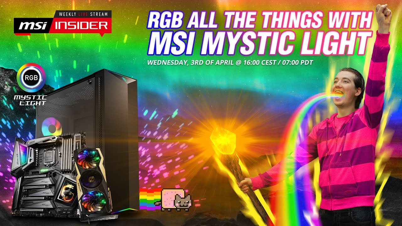 RGB all the things with MSI Mystic Light - YouTube
