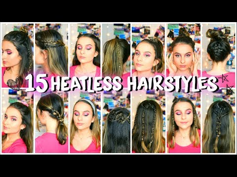 15 Easy and Quick Heatless Hairstyles