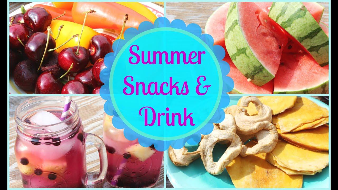 Healthy & Easy Summer Snack & Drink Ideas ☼ - YouTube