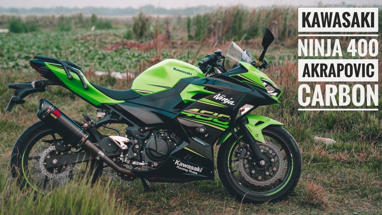 Kawasaki Ninja 400 Akrapovic Carbon Slip On Exhaust Sound Youtube