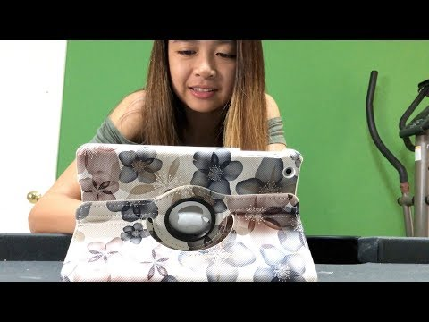Isabelle's new Apple iPad Mini case - inShang 360 degree rotating case