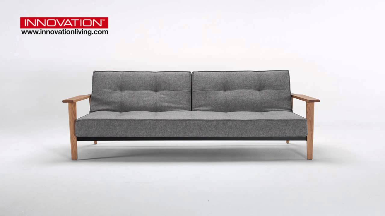 splitback frej sovesofa innovation living youtube. Black Bedroom Furniture Sets. Home Design Ideas