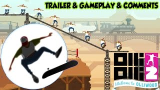 OlliOlli2: Welcome to Olliwood Trailer Gameplay Comments HD