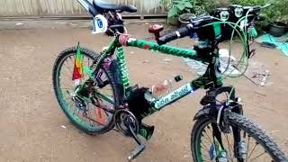Sri Lanka bicycle Haritha Kirilli in bus horns and lights