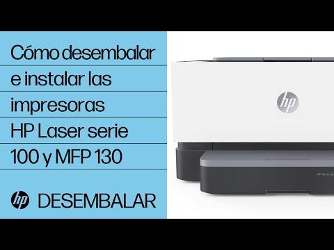 Cómo desembalar e instalar las impresoras HP Laser serie 100 y MFP 130 | HP Laser | HP