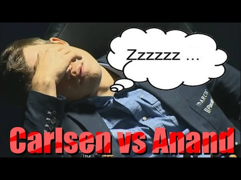 Funny Chess Moments 13 - Carlsen vs Anand - La Difesa Russa - Sleeping Champion (game 8 - 2014 WCCM)