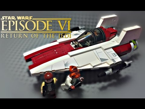 LEGO Star Wars - A-Wing Starfighter (75003) - Review + Upgrade