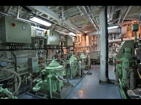 U2605container Ship Engine Room U2605  Hd