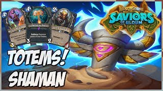Totems! Shaman | Journey into Wild 164 | Hearthstone | Saviors of Uldum