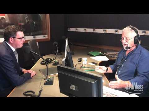 Premier Daniel Andrews in studio with Neil Mitchell