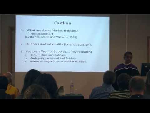 Asset Market Bubbles - Professor Praveen Kujal