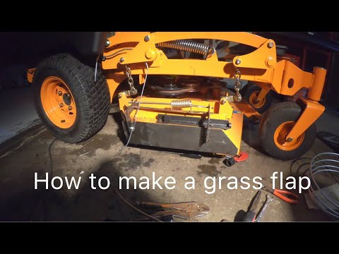 Repeat how to make a chute blocker for a zero turn mower by