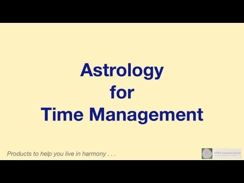 Astrology for Time Management