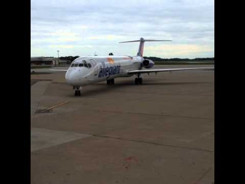Akron Canton Airport Winter Operations Allegiant Air Inaugural Flight To Myrtle Beach
