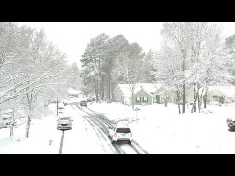 Snow Day 2018 Charlotte NC Shot with a DJI Spark (Drone)