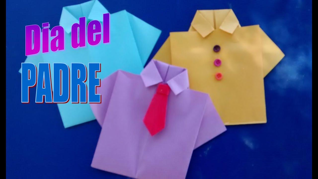 Como Hacer Una Camisa De Papel Para El Dia Del Padre Facilpaso A Paso