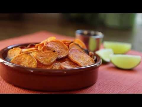 How to Make Spicy Sweet Potato Chips | Healthy Snack Recipes | Allrecipes.com