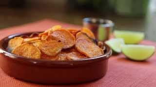 Healthy Snack Recipes - How To Make Spicy Sweet Potato Chips