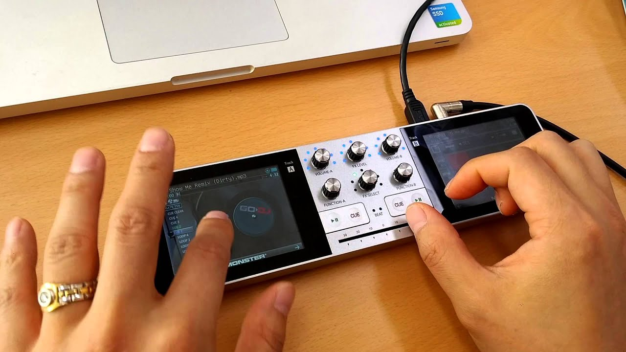 GO DJ by Monster Cable | Portable DJ Mixer and Music Studio